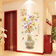 Креативная ваза для цветов наклейки на стену Гостиная Спальня