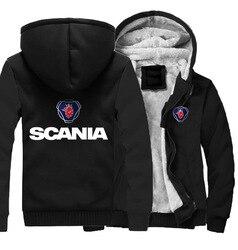 2019 популярный бренд локомотив логотип с длинными рукавами кардиган пальто Scania Повседневная бархатная толстовка мужская одежда на заказ