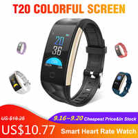 T20 Colorful Screen Smart Watch Waterproof Bracelet montre intelligente with Heart Rate and Blood Pressure Monitoring Smartwatch