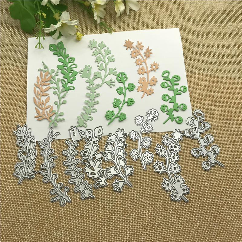 8pcs Leaves  Lace Metal Cutting Dies Craft Stamps Die Cut Embossing Card Make Stencil