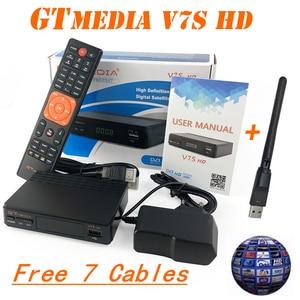 Image 2 - Dmyco receptor de satélite tv sintonizador decodificador v7shd DVB S2 lnb com europa portugal espanha canais conta suporte powervu receptor