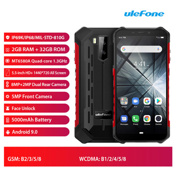 Перейти на Алиэкспресс и купить Ulefone Armor X3 смартфон с 5,5-дюймовым дисплеем, четырёхъядерным процессором MTK6580, ОЗУ 2 Гб, ПЗУ 32 ГБ, 5,5 мАч, 8 Мп, Android 9,0