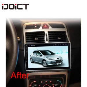 Image 5 - IDOICT אנדרואיד 8.1 2.5D DVD לרכב נגן ניווט GPS מולטימדיה עבור פיג ו 307 307CC 307SW רדיו 2002 2013 רכב סטריאו