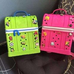 Material EVA bolsas escolares para niños portatarjetas de regalo para niños mochila súper portátil para bebés con 15 pequeñas flores