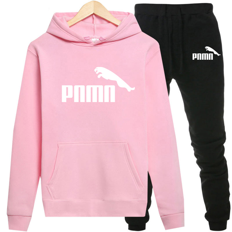 2020 Women Tracksuit 2 Piece Set Hooded Pants Suits Solid Casual Female Clothes With Pockets Conjunto Feminino Plus Size