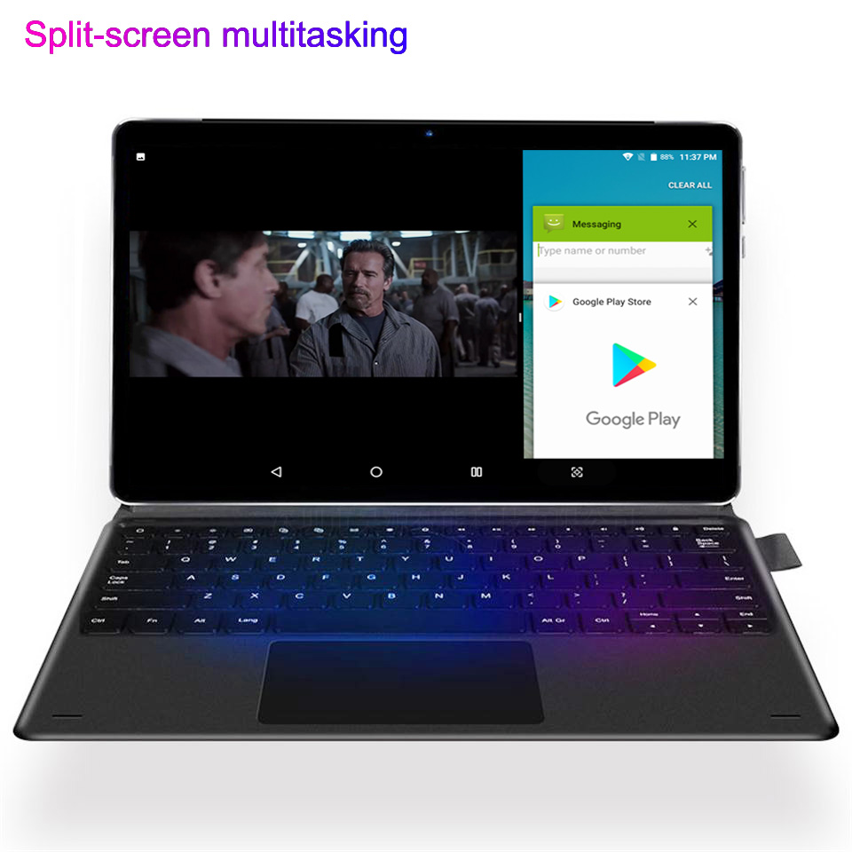 NEW 2 In 1 Tablet Laptop 11.6 Inch Android  10 Cores 1920*1080 With Keyboard Gaming Tablets Gps Wifi 4G Sim Card Call Phone Tab