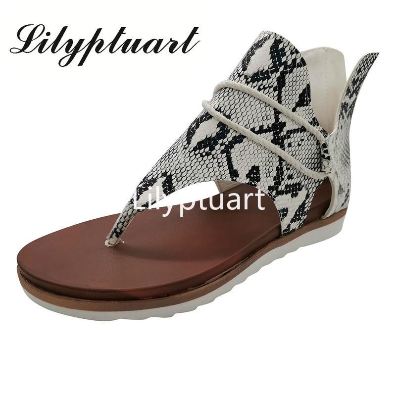 Summer Sandals Women Leopard Print Flat Sandals Ladies Casual Gladiator Sandals Women Flip Flops Scarpe Donna Estive 2020