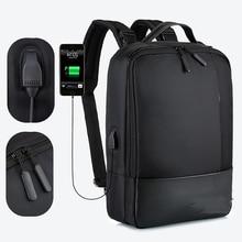 Men Business Backpack Laptop Man Bagpack USB Charger Travel Waterproof 15.6 Notebook Backpacks Black Shoulder Bags