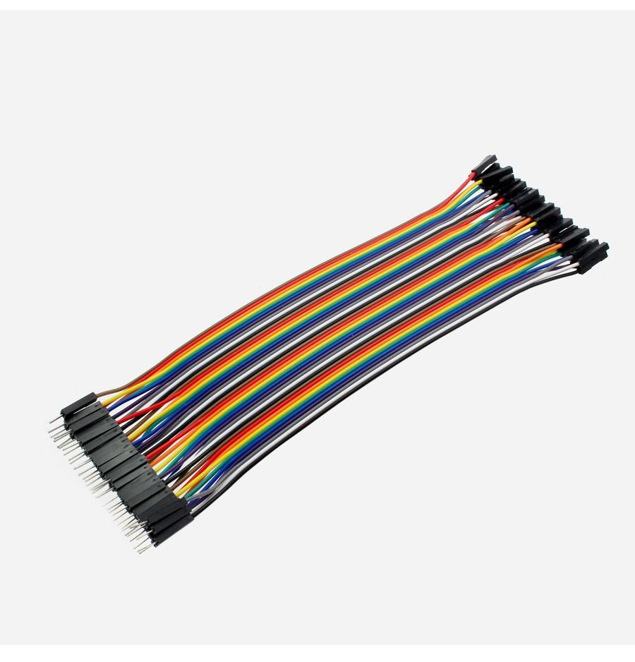Dupont набор соединительных кабелей 120 шт 20 см папа-папа + папа-мама + Женский-Женский Соединительный провод Dupont кабель для arduino