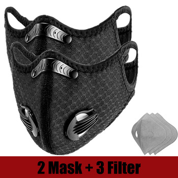 Breathable Bacteria-proof Sport Face Mask With Activated Carbon PM 2.5 Anti-pollution Running Cycling Facial Care Mask