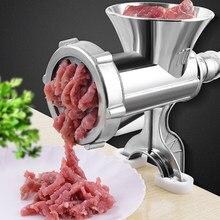 Ręczna maszynka do mięsa maszynka do mielenia mięsa kiełbasa makaron ręczny wołowina makaron Mincer Maker gadżety aluminium szlifierka narzędzie kuchenne