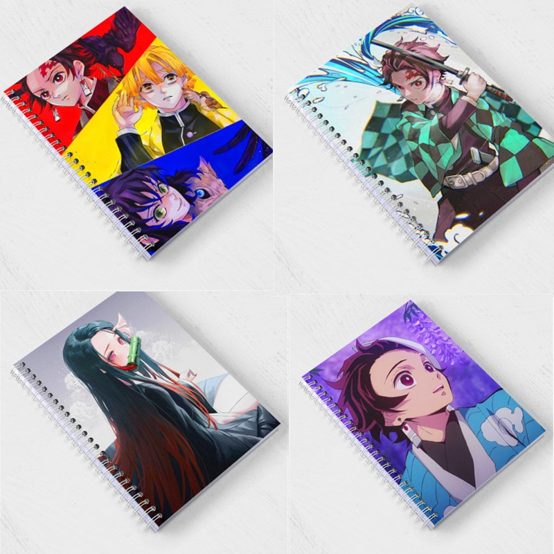 21 Style Demon Slayer Coil Book Anime Kimetsu No Yaiba Note Book Kamado Tanjirou Paper Agenda Schedule Planner Sketchbook