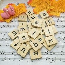 26 יח\חבילה עץ אנגלית אלפבית Diy Creative קישוטי עבור רקע צילום אביזרי סטודיו תמונה Accesorios פוטוגרפיה