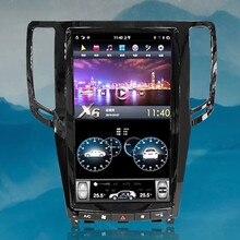 Android 8,1 os 13,6 дюймов ips вертикальный HD экран автомобиля gps Мультимедиа для радио, навигации для infiniti G25 G37 2007-2013