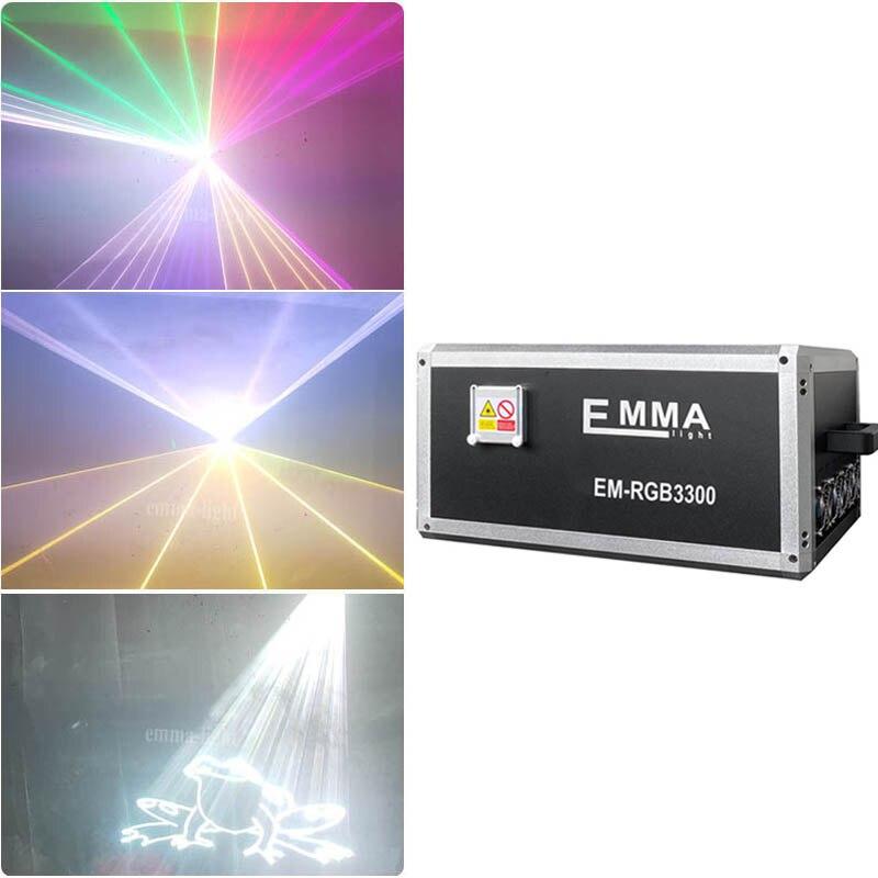 NUEVO LÁSER 20000mW 20W COLOR RGB DMX ILDA DJ luz láser para escenario mostrar sistema