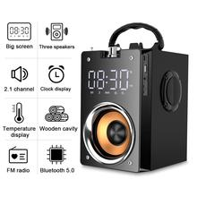 Открытый Портативный высокомощный Bluetooth спортивный громкоговоритель T3 беспроводной стерео сабвуфер тяжелый бас аудио плеер HiFi Саундбар ...