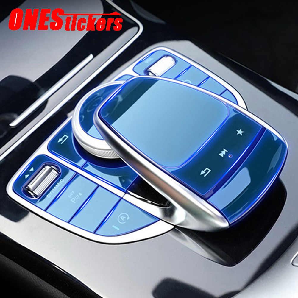 Console centrale de voiture multimédia avec boutons de souris, pour Mercedes Benz C E G V GLC Class W205, W213, X253, W463, G500, Film protection en polyuréthane thermoplastique