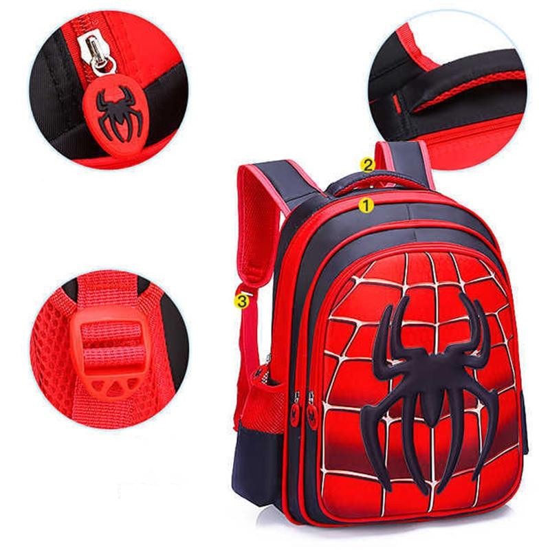 Fashion Spider book bag Spider Boy Backpack Schoolbag Children's Bag Kids Kindergarten Kindergarten Toddler Bag