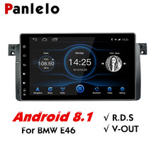 Panlelo For BMW E46 Android 8 GPS Navigation System 2 Din 9 Inch IPS Screen Quad Core for 3 Series/M3 95-05 with BT