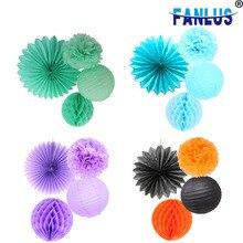 4pcs Mint Green Tissue Paper Pompom Paper Fan Mint Honeycomb Ball and Mint Green Paper Lanterns брюки mint