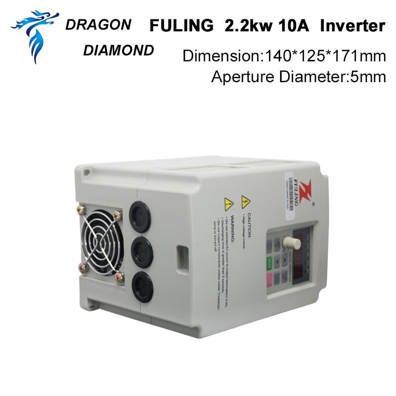 VFD keitiklis 2.2KW dažnio keitiklis 3P 220V / 110V išvestis CNC - Medienos apdirbimo mašinų dalys - Nuotrauka 5
