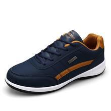 Мужские кроссовки для бега, мужские кроссовки, мужская спортивная обувь из искусственной кожи для мужчин, спортивные синие кроссовки для об...
