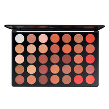 35 colors pearl matte eyeshadow warm color earth long lasting eye shadow palette for professional,beginners makeup