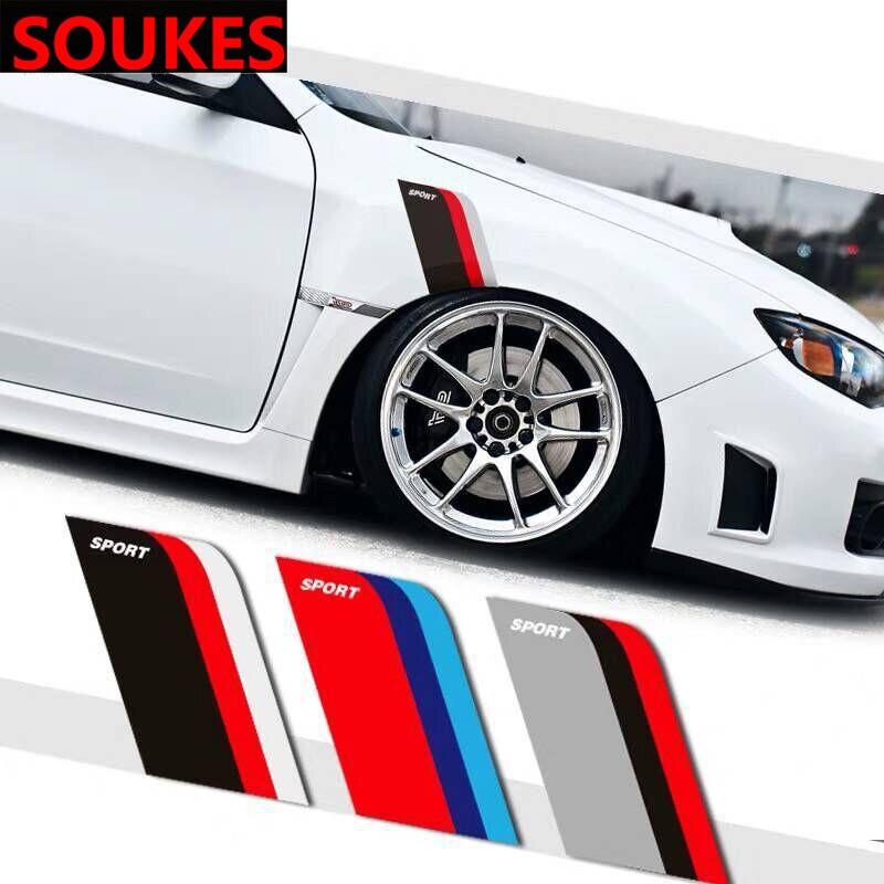 2pcs Car Eyebrow Wheel Tire Fender Sport Sticker For Cadillac CTS SRX ATS Lexus RX NX GS CT200H GS300 RX350 RX300 Saab 9-3 9-5