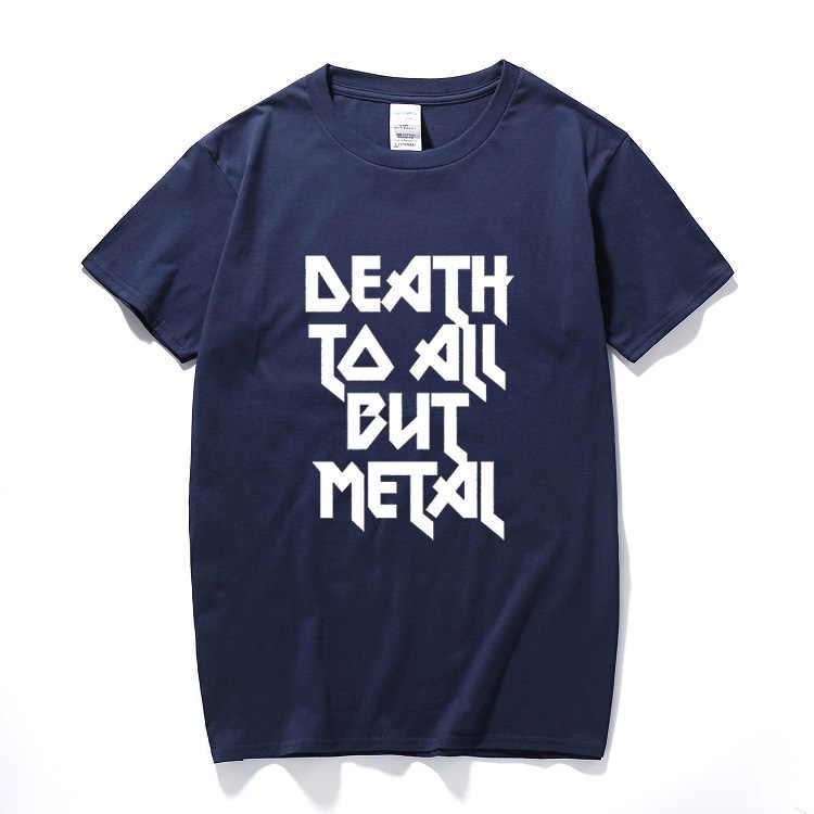 死にすべてが金属鋼パンサースローガンtシャツユニセックスファニーtシャツ綿半袖tシャツcamiseta hombre