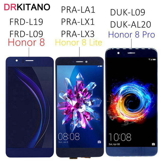 """5.7""""For Huawei Honor 8 Pro LCD Display Touch Screen DUK L09 For Honor 8 Lite Display 8Pro PRA LA1 LX1 LX3 FRD L09 L19 LCD Screen"""