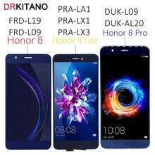 """5.7 """"עבור Huawei Honor 8 Pro LCD תצוגת מסך מגע דוק L09 לכבוד 8 תצוגת לייט 8Pro PRA LA1 LX1 LX3 FRD L09 L19 LCD מסך"""