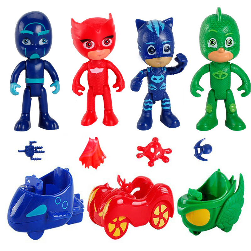 Pj Masks Collection Dolls Juguete Catboy Owlette Gekko TV PJ Mask Anime Figures Model Car Outdoor Active Toys For Children Gift