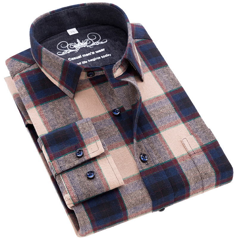 High Quality Mens Casual Shirt Pure Cotton Male Camisa  Casual Slim Fit Flannel Streetwear Brand Red Check Blouse Big Size 6xl