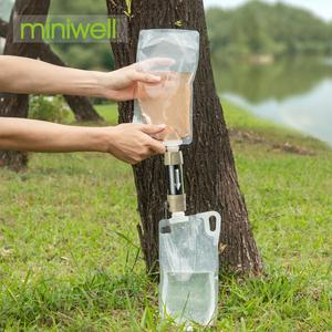miniwell outdoor water filter for camping,hiking,fishing,travel,emergency,survival