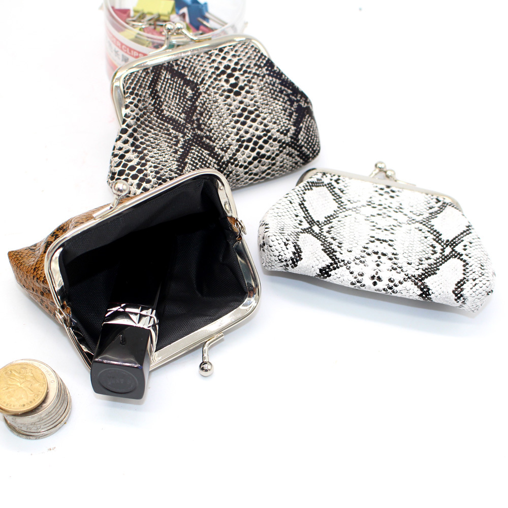 Coin Purse Wallet Women Vintage Snake Pattern Small Wallet Hasp Printing Creative Clutch Bag Good Gift Women's Purses