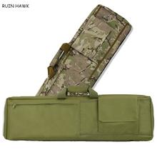 85cm 100cm Airsoft Paintball polowanie karabin pneumatyczny pistolet torba ochronna z wyściełaną poduszką taktyczne polowanie pojemnik wyścielany torba na ramię tanie tanio RUIN HAWK CN (pochodzenie) Oxford Outdoor Sport Bag About 30cm Black Tan Green CP High Quality 600D Oxford Tactical Hunting Rifle Gun Case