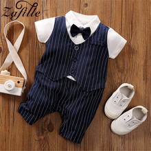 ZAFILLE New Cotton Baby Romper Short Sleeve Baby Boy Clothes Patchwork Gentleman Style Newborn Infant Kids Clothes Boys Jumpsuit 2016 baby boy romper newborn clothing rompers baby clothes college style waistcoat romper infant gentleman romper kid s jumpsuit