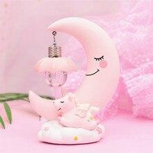 Unicorn Moon Resin Cartoon LED Night Light Romantic Bedroom Decor Night Lamp Baby Kids Birthday Christmas Gifts