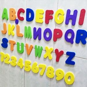 Image 1 - Alphanumerische Brief Puzzle Bad Spielzeug Weiche EVA Kinder Baby Bad Wasser Spielzeug Frühe Pädagogische Saug Up Fisch Bade Spielzeug