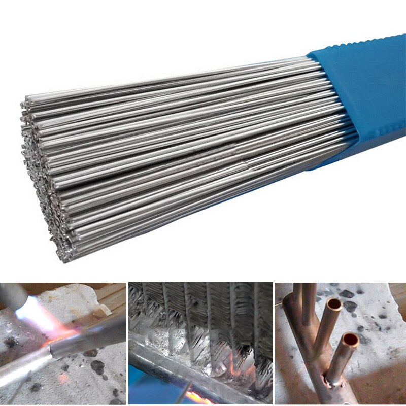 Low Temperature Easy  Aluminum Welding Rods Weld Bars Cored Wire Rod Solder for Soldering Aluminum (no Flux)  Solder Powder#