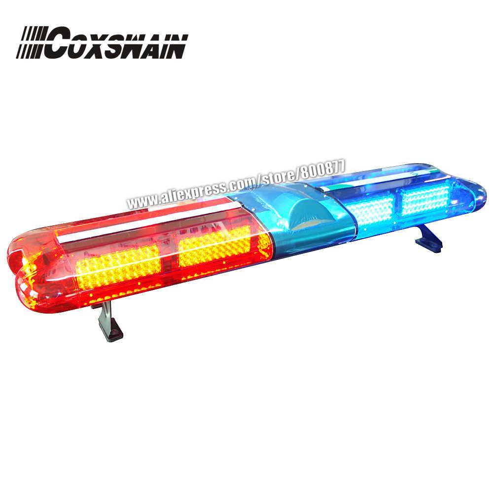 Светодиодный предупреждающий светильник для скорой помощи, светодиодный светильник для скорой помощи, полицейский светильник, бар с сиреной и динамиком 100 Вт