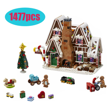 Gingerbread House City Creator Winter Building Brick Childrens Christmas Gift Compatible with lepining 10267