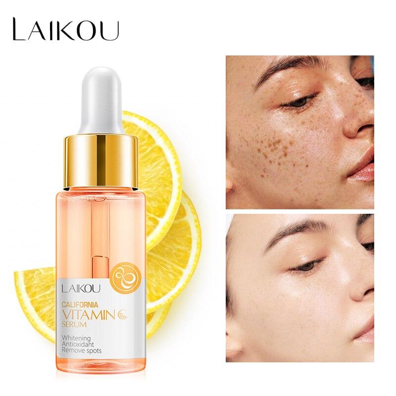 LAIKOU Face Serum Hyaluronic Acid VC Moisturizing Essence Liquid Whitening Anti-wrinkle Acne Detox Serum Oil-control Skin Care