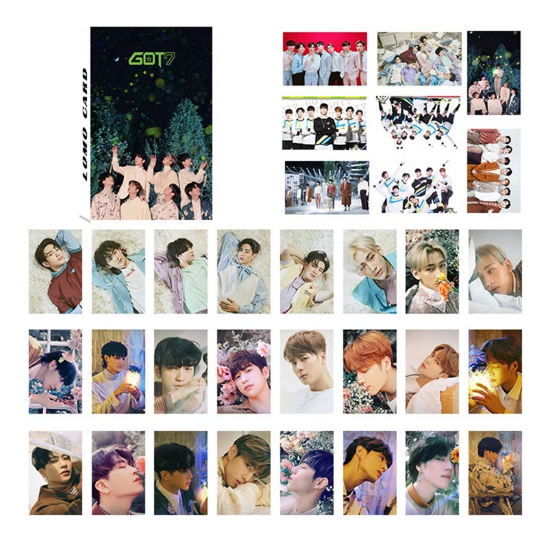 32Pcs/Set K-POP GOT7 New Album Paper  Photo Card Self Made Lomo Card Photocard Fans Gift Collection