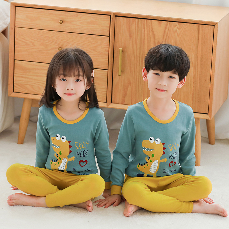 Fall Children Pajama Sets Cartoon Kids Pijamas Homewear Clothing Pajamas For A Boy Of 12 Years Sleepwear Cotton Teens Nightwear 4