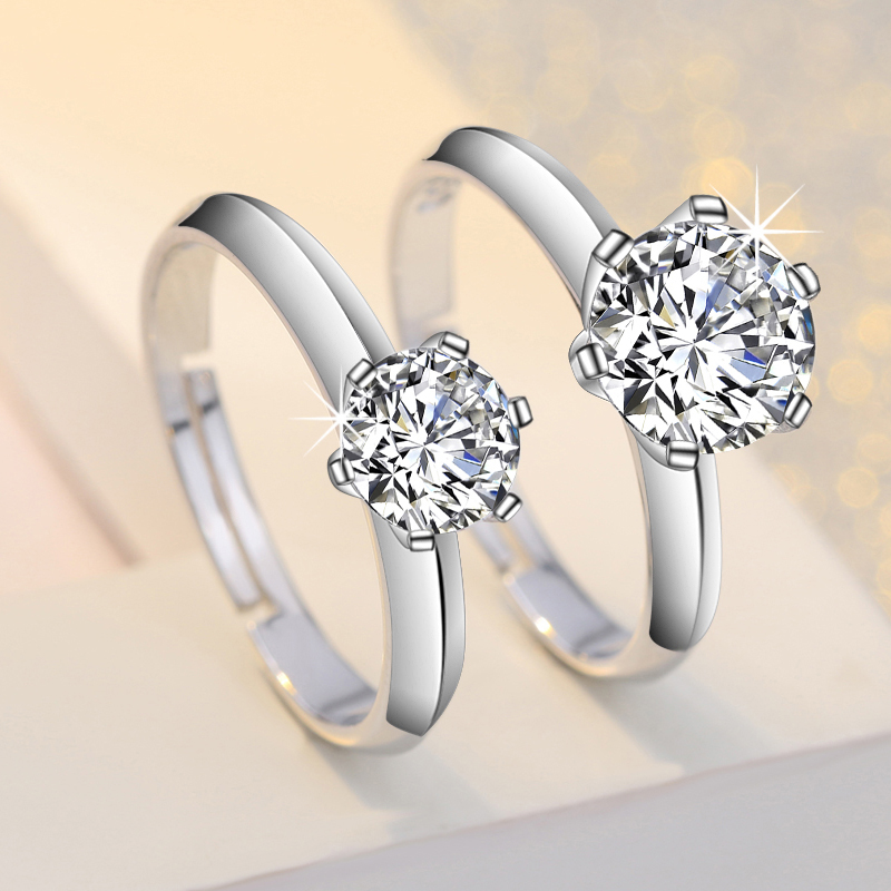 Fashion Women Rings 30% Silver Plating Resizable Set With Diamonds Wedding Rings Engagement Rings For Women Ladies Jewelry. title=