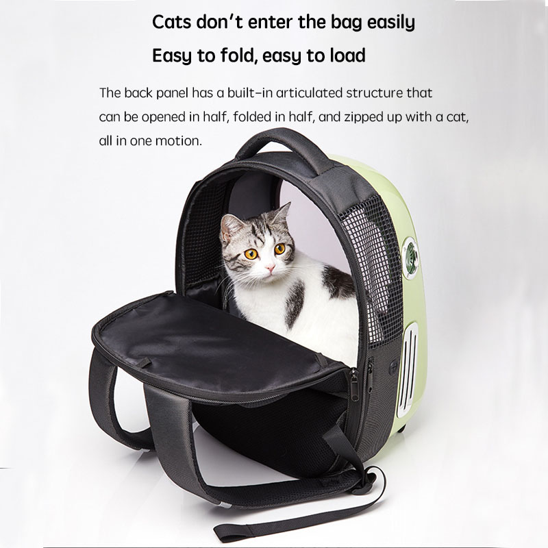 Travel Cat Handbag Space Capsule window bubble astronaut With USB lighting fan Pet Carriers Bag Carrying For Cats transportin au 3