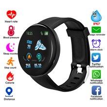Connect tfit D18 ساعة ذكية الرجال ضغط الدم معصمه مستديرة IP65 مقاوم للماء الرياضة ساعة ذكية ساعة تعقب اللياقة البدنية لنظام أندرويد Ios
