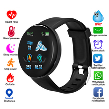 ConnectFit D18 Smart Watch Men Blood Pressure Round Wristband IP65 Waterproof Sport Smart Watch Fitness Tracker for Android Ios