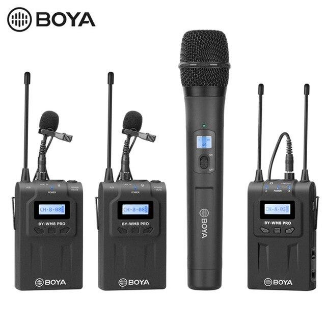 BOYA BY WHM8 Pro Handheld Mikrofon UHF Wireless Unidirektionale Dynamische Mic Sender für Bühne Film ENG BY WM8 Pro Empfänger